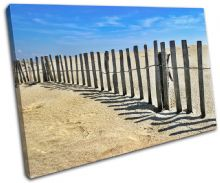 Beach Fence Sunset Seascape - 13-1987(00B)-SG32-LO